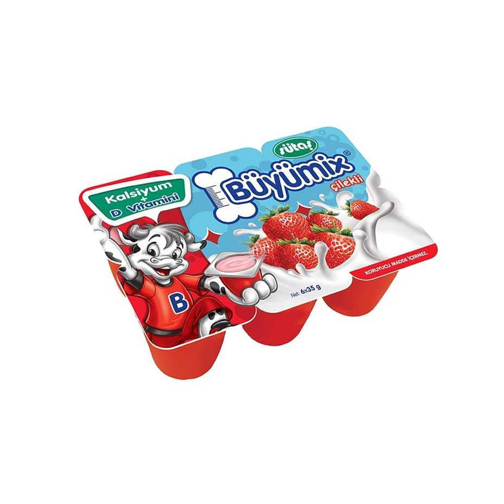 Sütaş Çilekli Büyümix 6'lı 40 gr ürünü