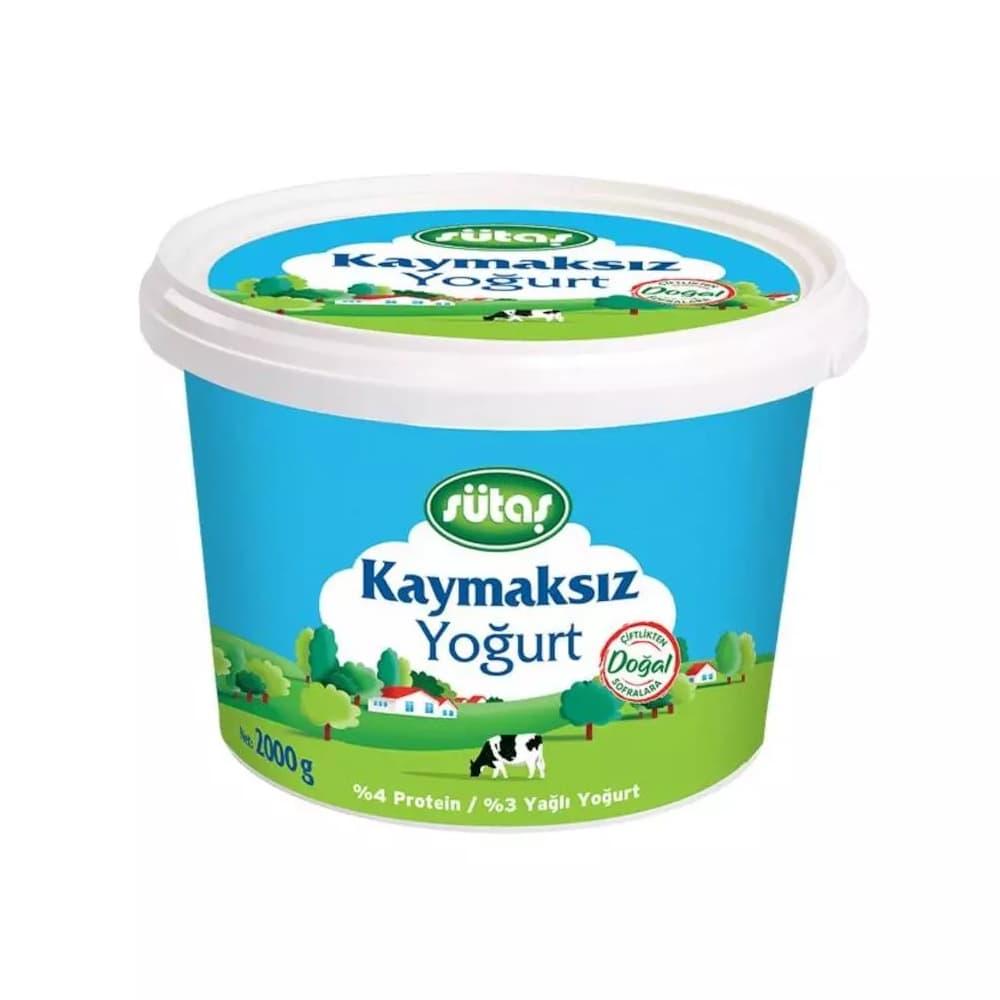 Sütaş Kaymaksız Yoğurt 2 kg ürünü