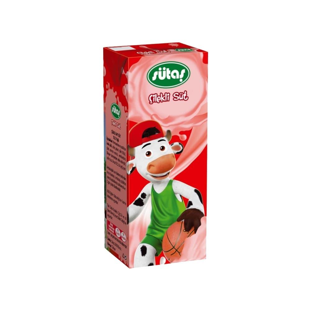 Sütaş Çilekli Süt 180 ml ürünü