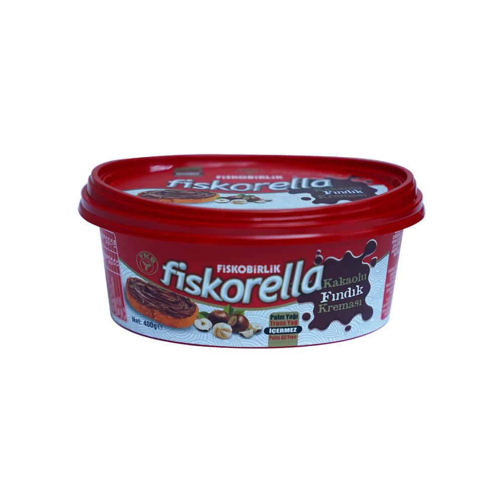 Fiskobirlik Fiskorella Kakaolu Fındık Kreması 400 gr ürünü