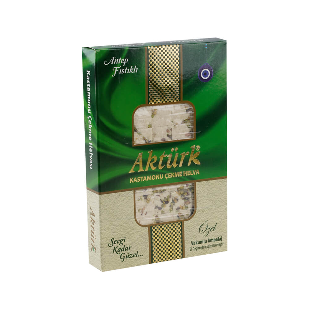 Aktürk Kastamonu Antep Fıstıklı Çekme Helva 250 gr ürünü