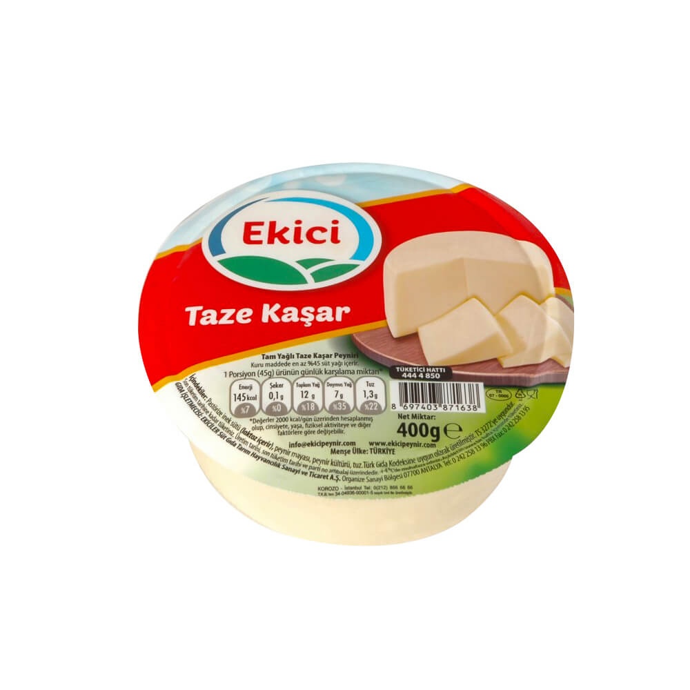 Ekici Tam Yağlı Piknik Kaşar Peyniri 400 gr ürünü
