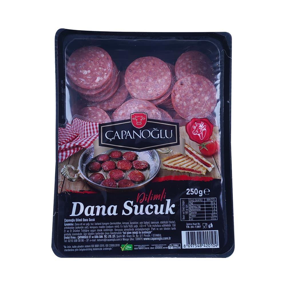 Çapanoğlu Dana Dilimli Sucuk 250 gr ürünü