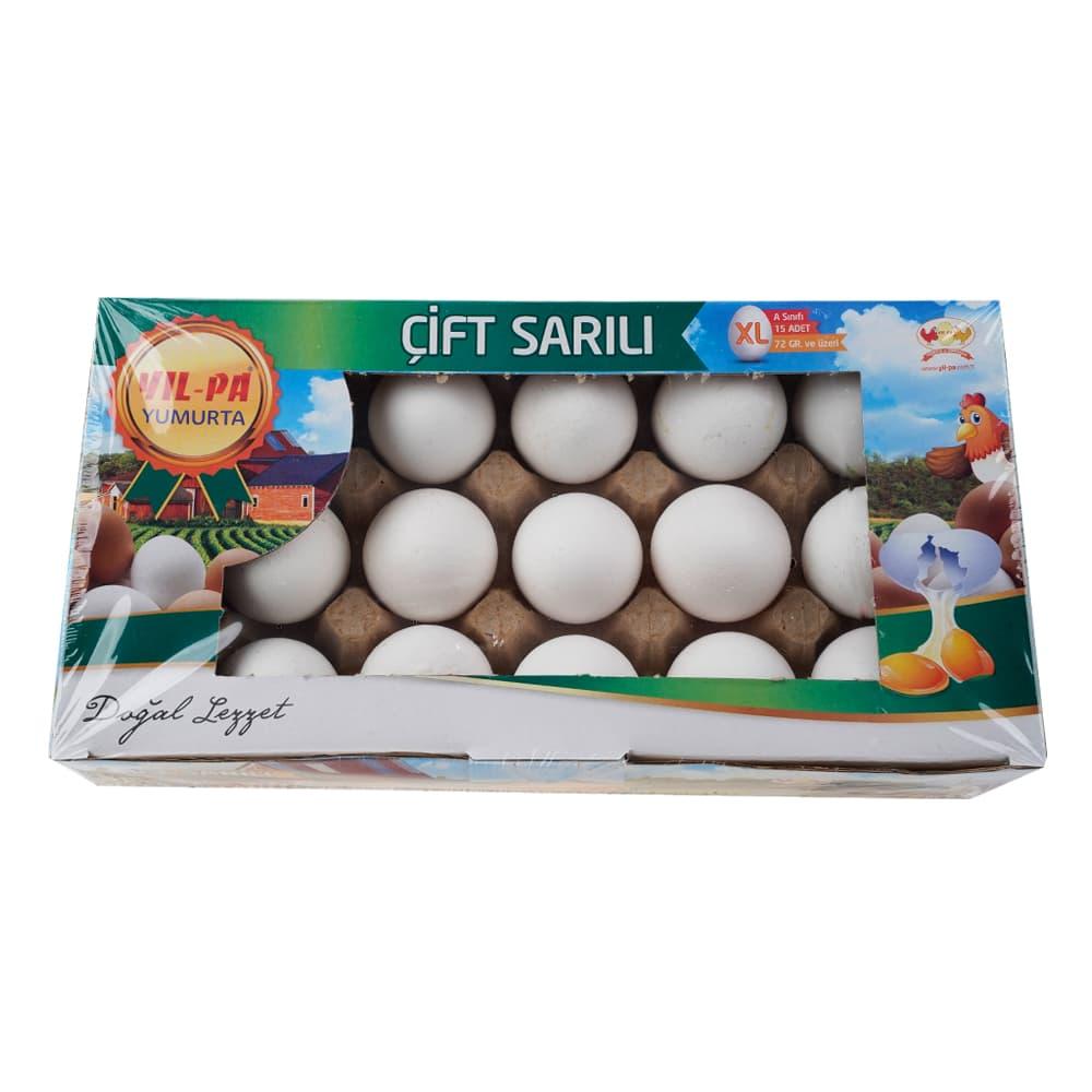 Yilpa Çift Sarılı Beyaz XL Yumurta 15'li ürünü
