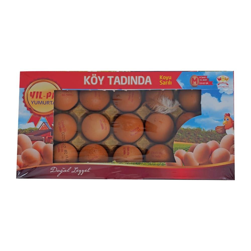 Yilpa Orta Boy Kırmızı Köy Tadında Yumurta 15'li ürünü