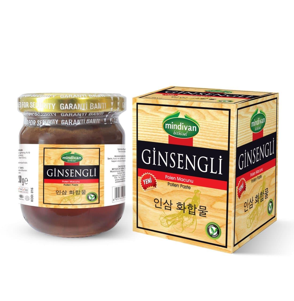 Mindivan Ginseng Polenli Macun 230 gr ürünü