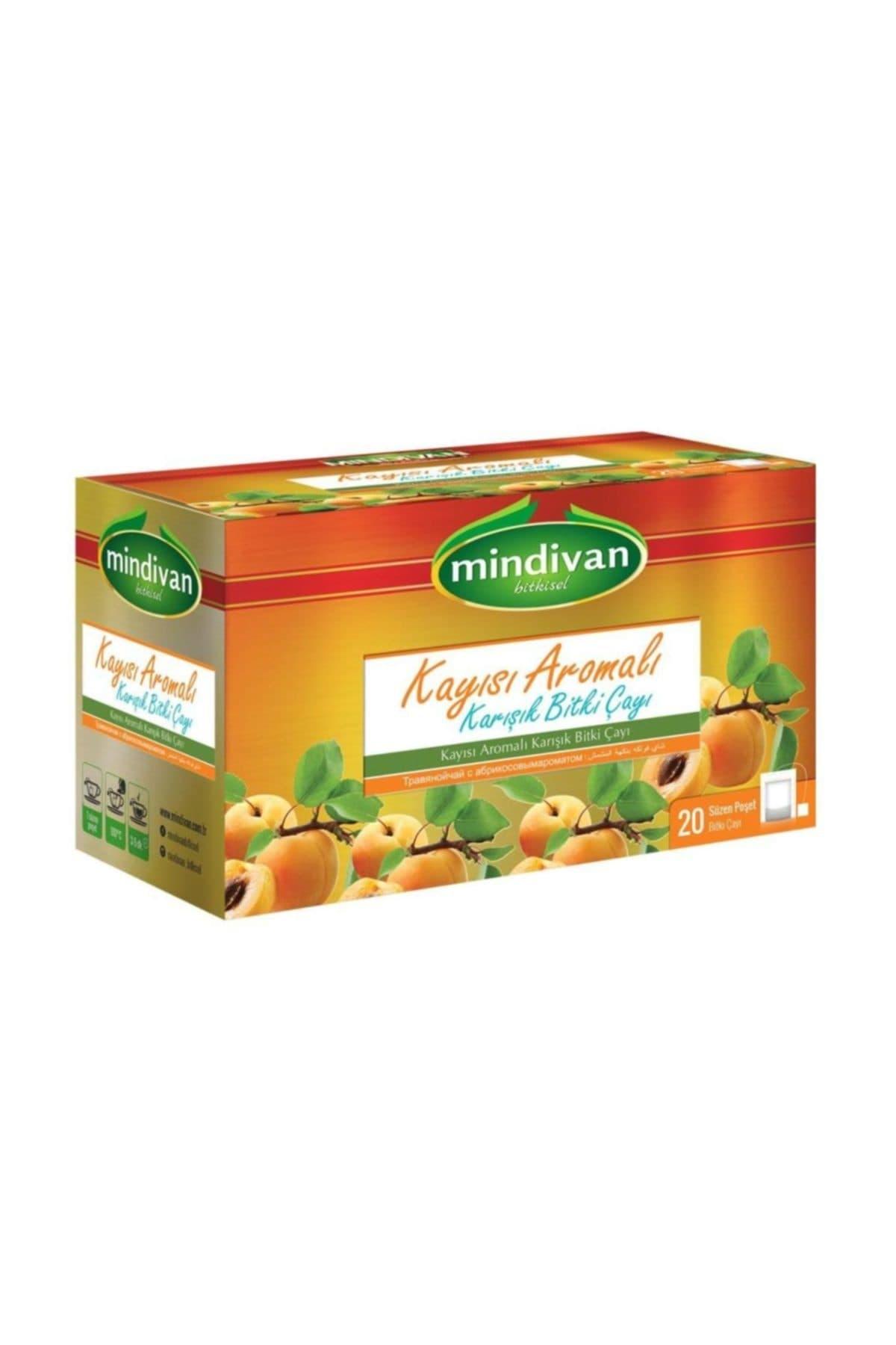Mindivan Kayısı Aromalı Form Çayı 20'li ürünü