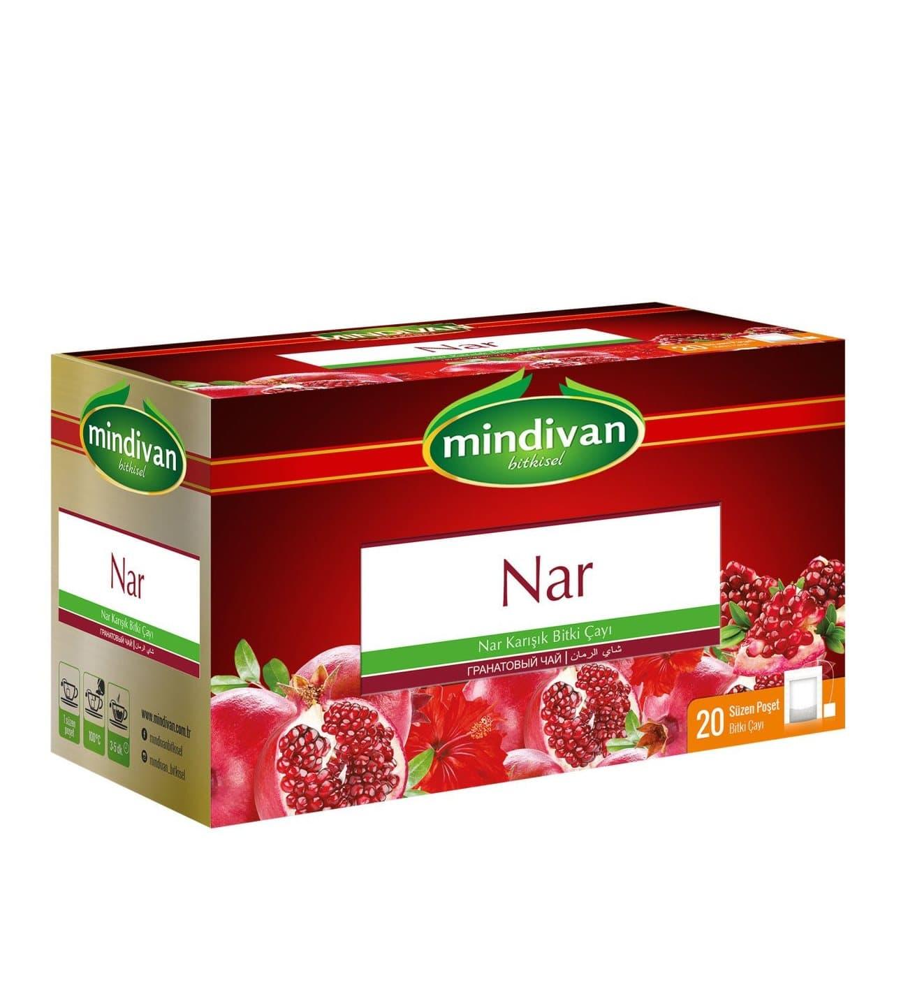 Mindivan Nar Çayı 20'li ürünü