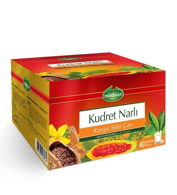 Mindivan Kudret Narlı Karışık Bitki Çayı 40'lı ürünü