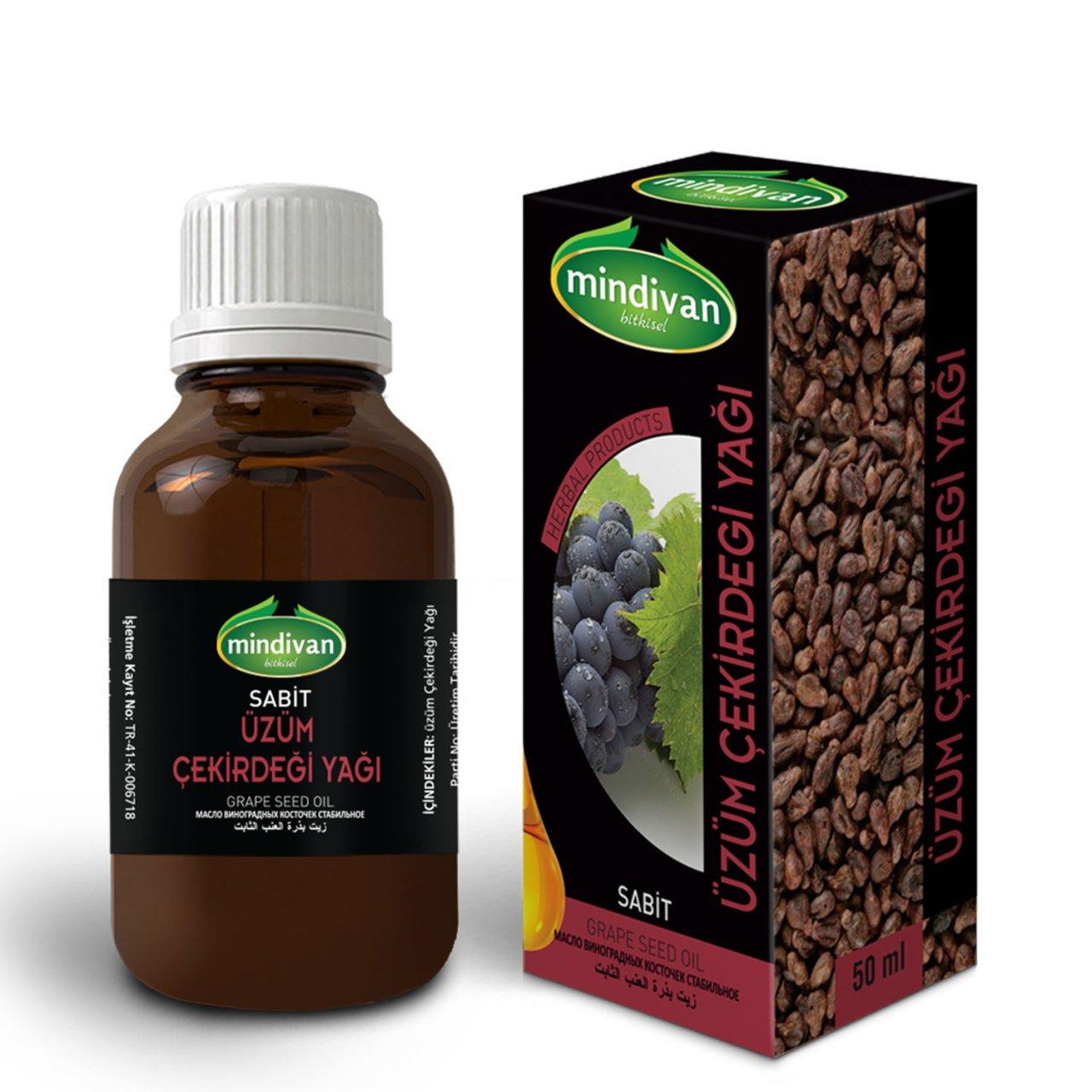 Mindivan Üzüm Çekirdeği Yağı 50 ml ürünü