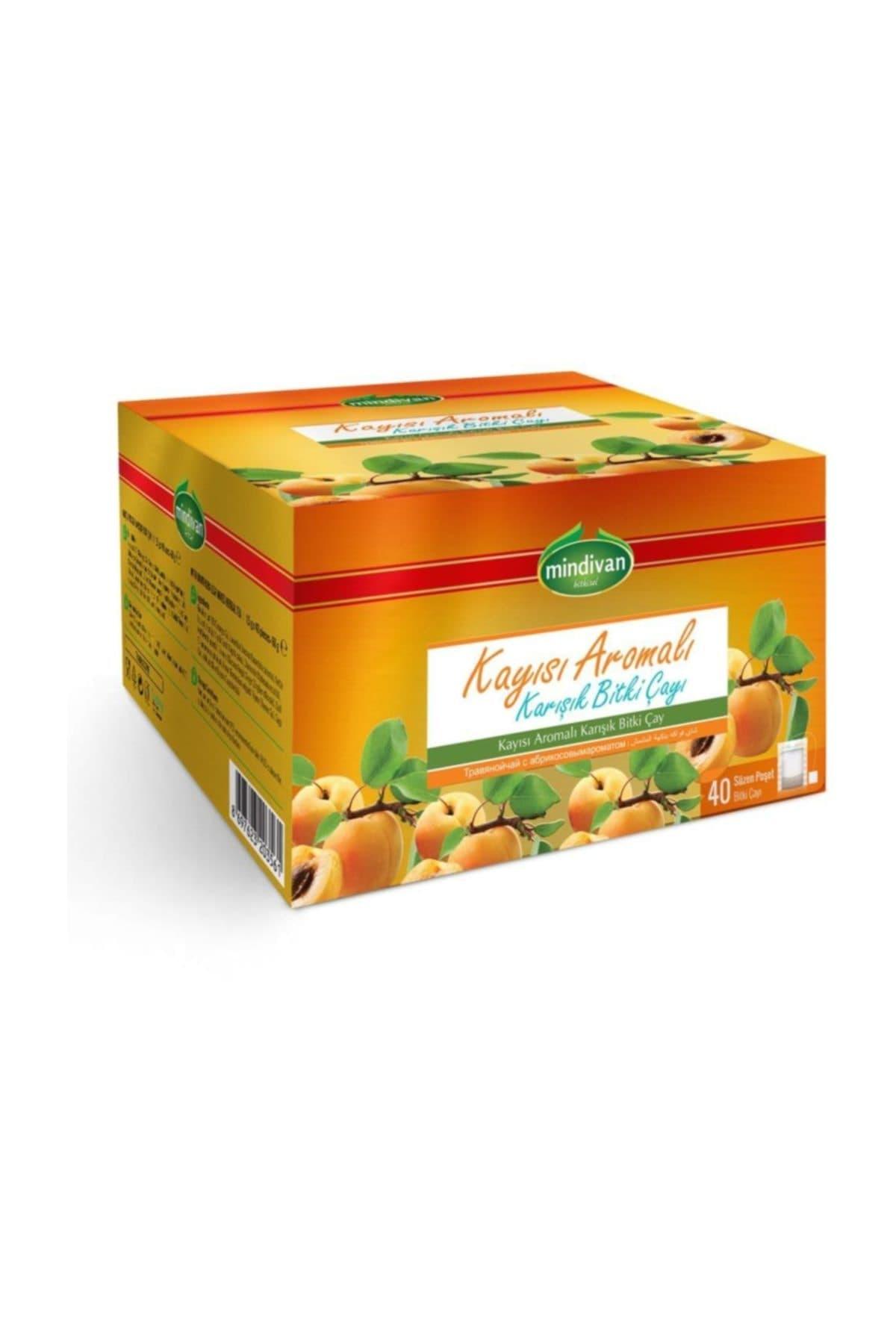 Mindivan Kayısı Aromalı Karışık Bitki Çayı 40'lı ürünü