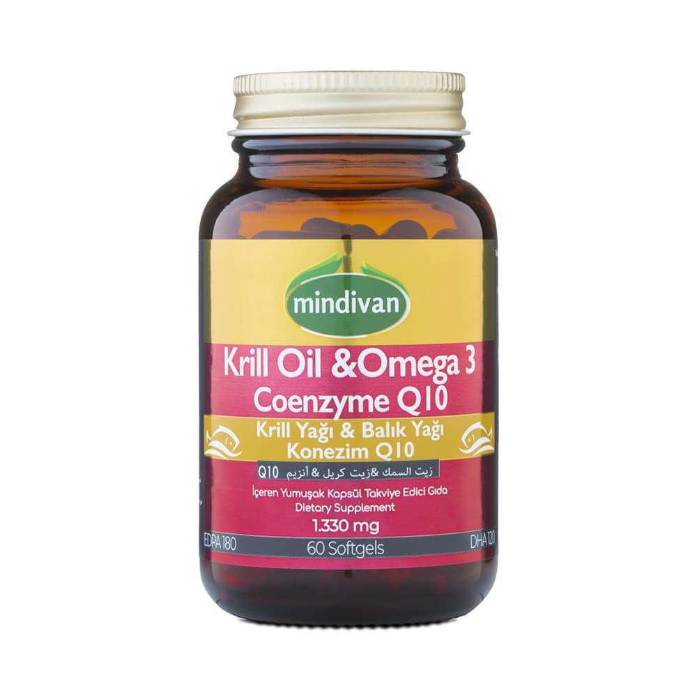 Mindivan Krill Oil & Omega 3 & Coq10 60 Kapsül  ürünü