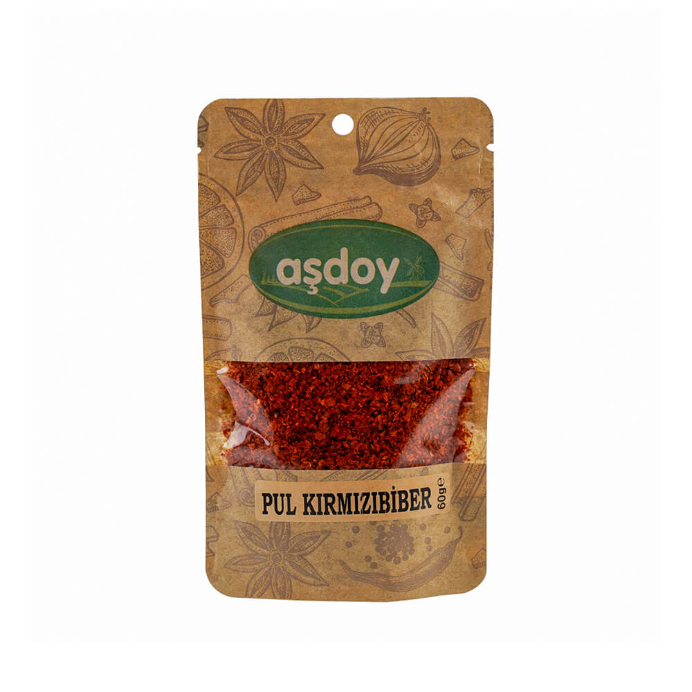 Aşdoy Kırmızı Pul Biber 60 gr ürünü