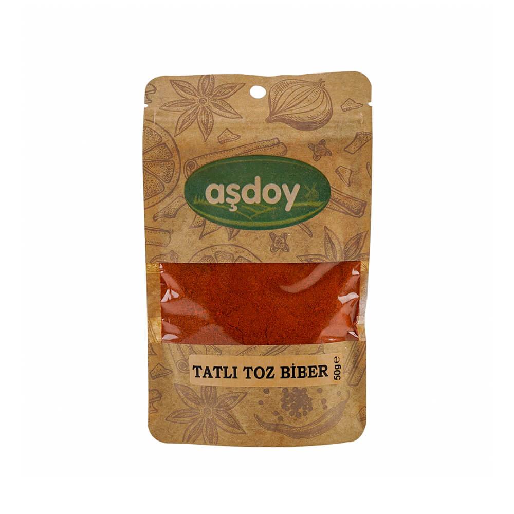 Aşdoy Tatlı Kırmızı Toz Biber 50 gr ürünü