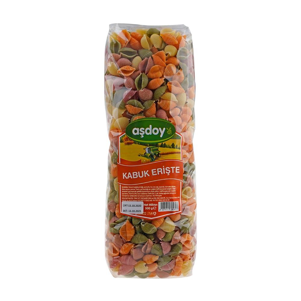 Aşdoy Sebzeli Kabuk Erişte 500 gr ürünü