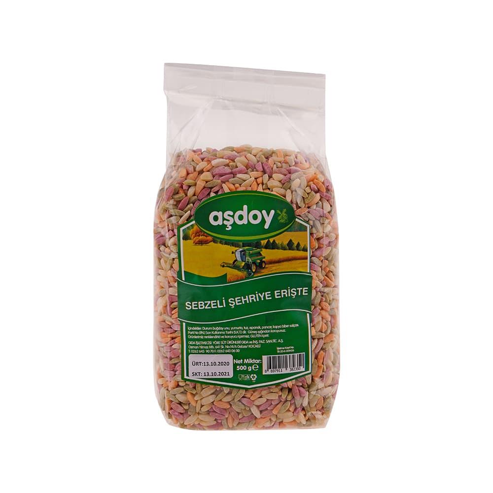 Aşdoy Sebzeli Çorbalık Pilavlık Erişte 500 gr ürünü