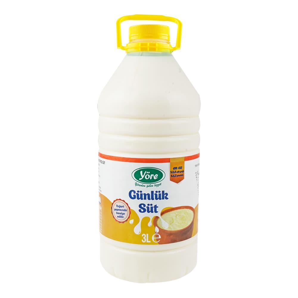 Yöre Günlük Süt 3 lt ürünü