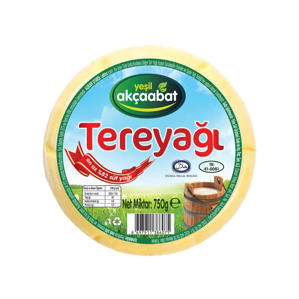 Yeşil Akçaabat Trabzon Tereyağı Tuzsuz 750 gr ürünü