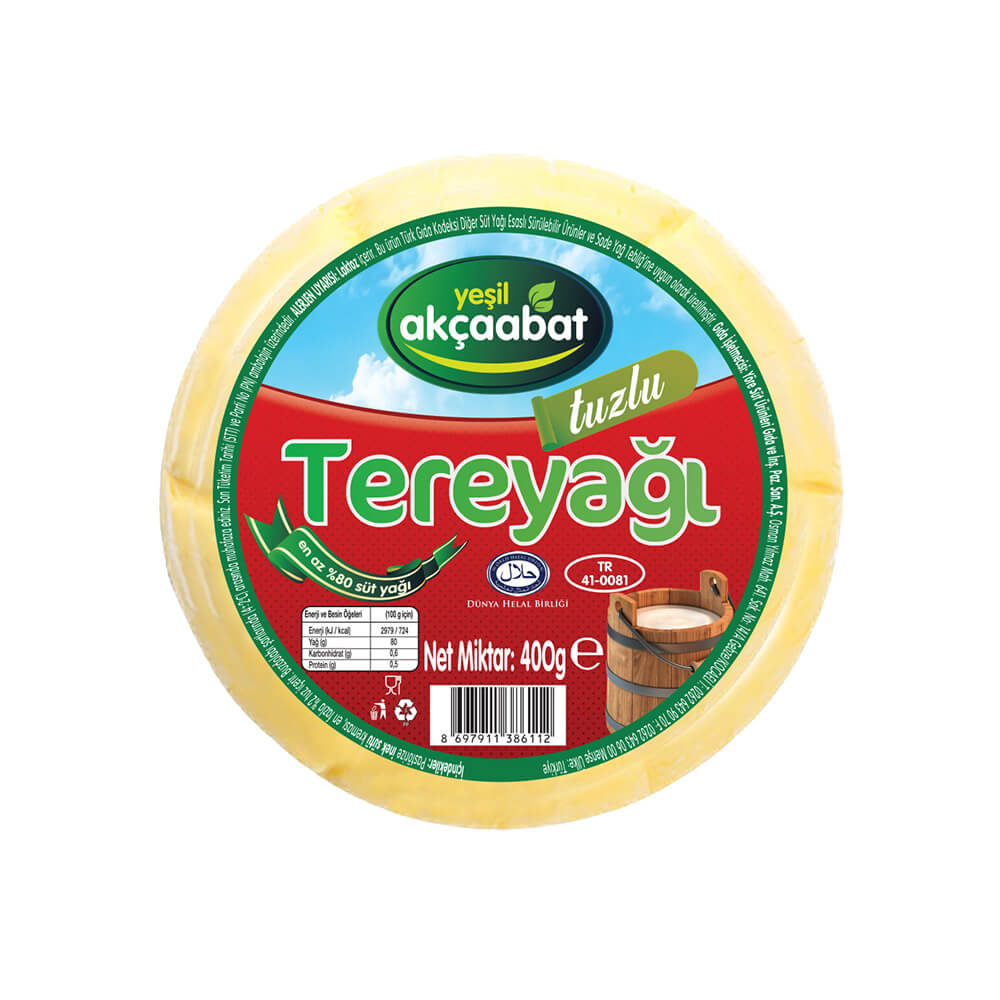 Yeşil Akçaabat Trabzon Tereyağı Tuzlu 400 gr ürünü