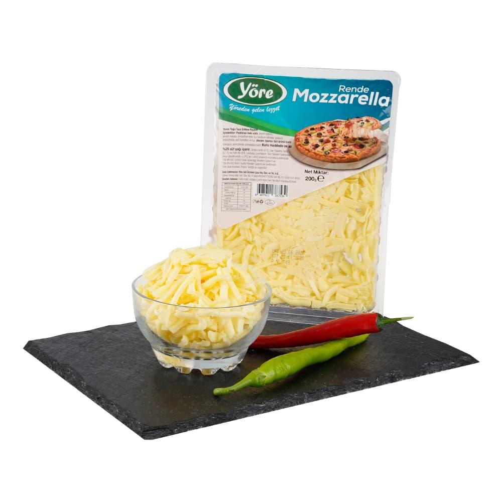 Yöre Mozzarella Rende Peyniri 200 gr ürünü